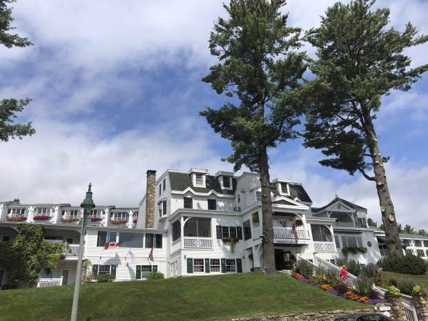 This September 2018 photo, shows the Mirror Lake Inn in Lake Placid, N.Y., where former Olympic skier Andrew Weibrecht spends weekends helping his parents run the inn, and nurturing his own family. During the week he's at Dartmouth, completing the college degree he started long ago, with an eye toward going on for an MBA.