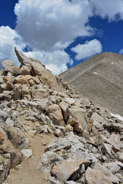 Kim Fenske of Copper Mounain took this photo of the trail leading up to the 14,276-foot summit of Mount Antero.