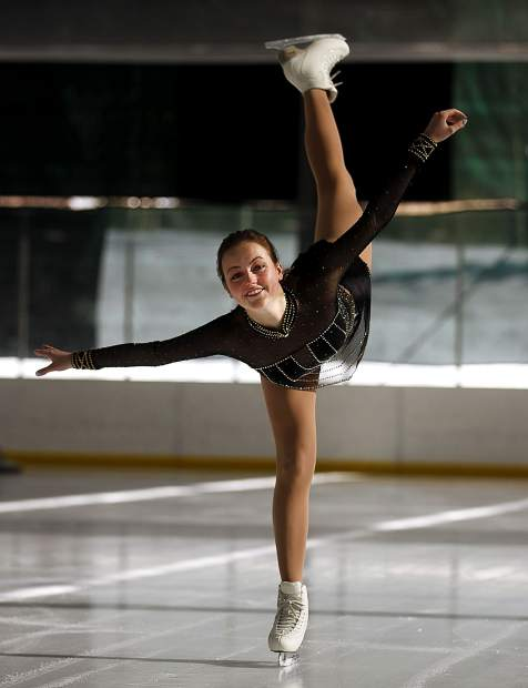 "Breckenridge local Jamie Ann Chandler, who will tour Europe as part of the international ice show ""Holidays on Ice,"" skates at Stephen C. West Ice Arena on Tuesday. Her accomplishment is a first for a figure skater from Breckenridge."