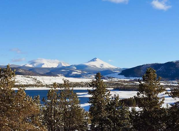 11 inches of fresh snow was on the ground and skies were blue on Sunday in Summit County.