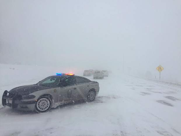 Colorado State Patrol closed Interstate 70 between Frisco and Silverthorne after a 20-car pile up stopped traffic in the eastbound lanes. Other interstate closures were reported throughout Saturday as a winter storm enveloped the I-70 corridor.