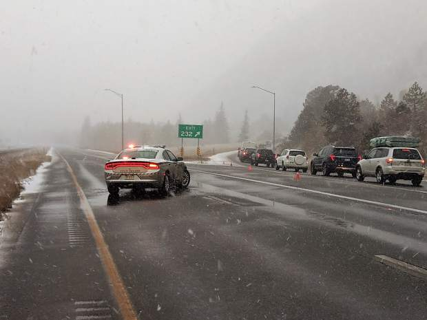 As a safety precaution, Colorado State Patrol closed Interstate 70 westbound on Saturday near Empire after a 20-car pileup shut down the eastbound lanes.