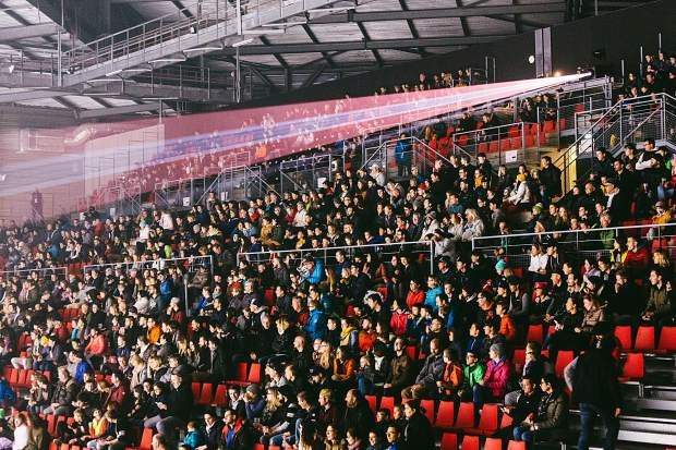 Large crowds provided an exciting atmosphere at The White Festival in Albertville, France this past weekend. The ski and snowboard slopestyle competition was held indoors and used winches to pull riders into the venue.