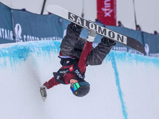 3ce333c2595c Jack Coyne performs a handplant in the halfpipe at the Toyota U.S. Grand  Prix qualifiers on Thursday
