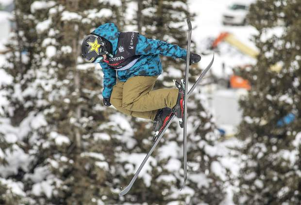Aaron Blunck of Crested Butte rotates in mid-air during the qualifiers on Wednesday for the Toyota U.S. Grand Prix halfpipe competition at Copper Mountain Resort. Blunck posted the top qualifying score for Friday's finals.
