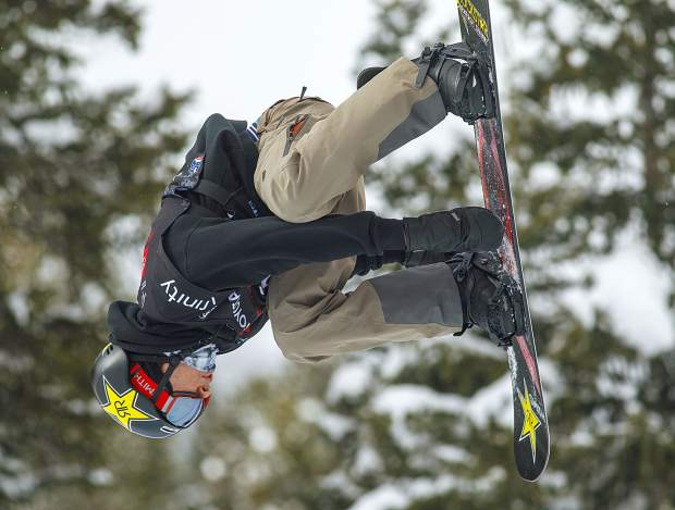 Chase Josey of Idaho executes a trick at the Toyota U.S. Grand Prix qualifiers on Thursday, Dec. 6, at Copper Mountain Resort.