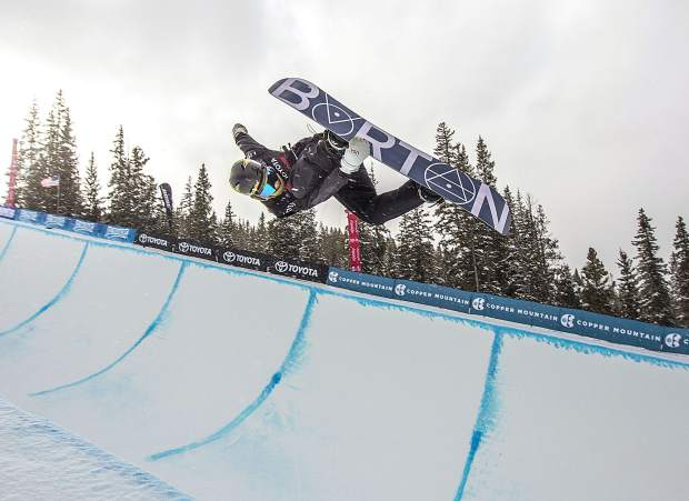 Eagle resident Jake Pates executes a trick during the Toyota U.S. Grand Prix halfpipe qualifiers on Thursday, Dec. 6, at Copper Mountain Resort.