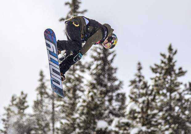 Breckenridge resident Arielle Gold executes a trick at the Toyota U.S. Grand Prix halfpipe qualifiers on Thursday, Dec. 6, at Copper Mountain Resort. Gold scored a high of 84.50 and qualified for finals on Saturday in third position.