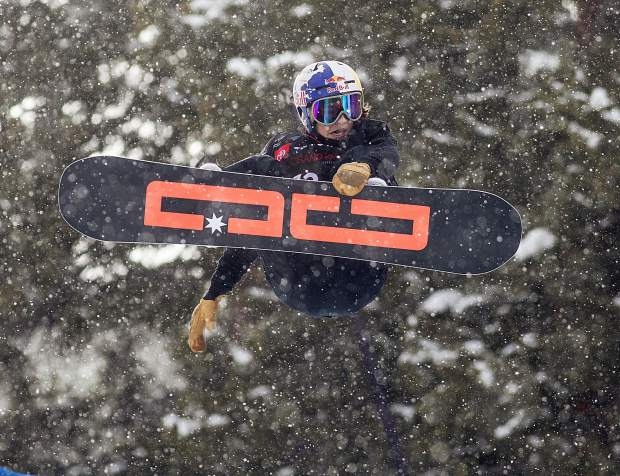 Toby Miller, of Mammoth Lakes, California, executes a trick during the Toyota U.S. Grand Prix halfpipe qualifiers on Thursday, Dec. 6, at Copper Mountain Resort.