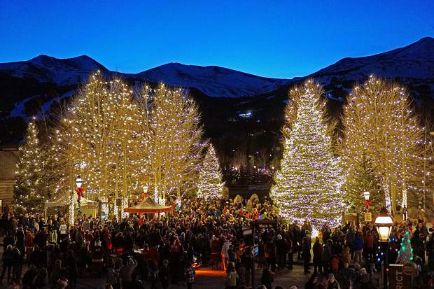 Silverthorne, Dillon and Breckenridge light trees for the holidays