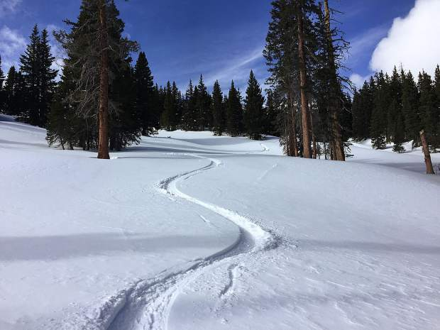 Ski track in Summit County.