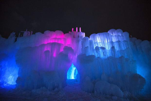Ice Castles glow on opening night Friday, Dec. 21, in Dillon.