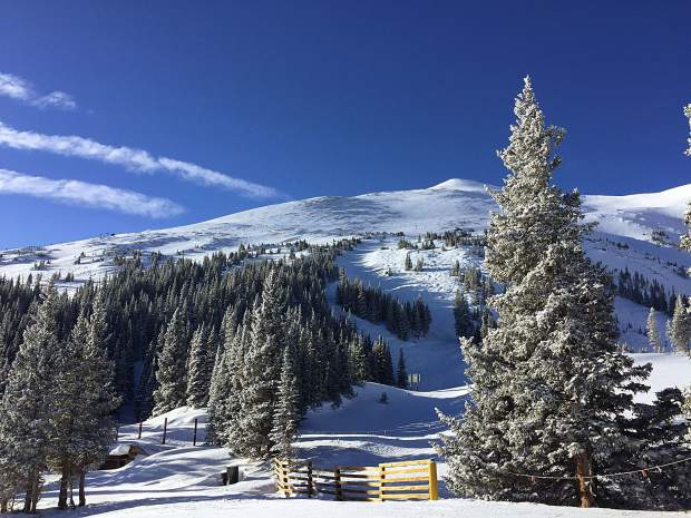 Fresh snow at Breckenridge Ski Resort on Thursday.