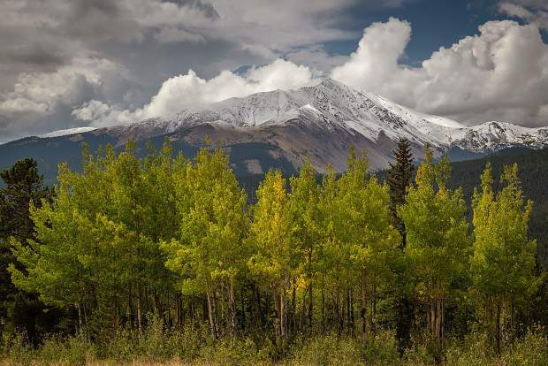 Snow capped mountains from Boreas Pass this week.
