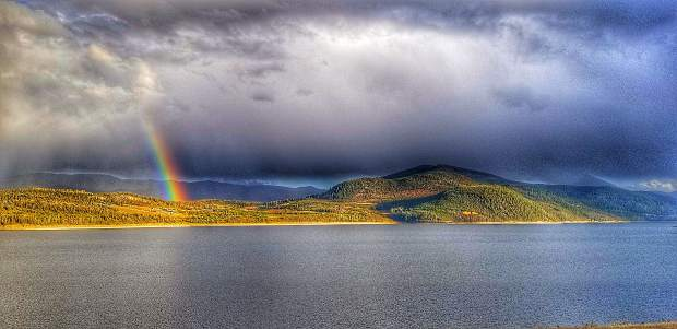 Rainbow seen from the Dam Road.