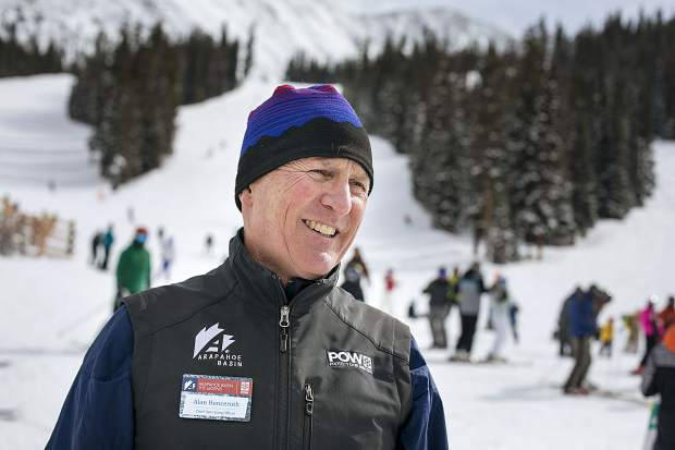 Arapahoe Basin Ski Area's Chief Operating Officer Alan Henceroth speaks about splitting partnership with Vail Resorts Monday, Feb. 18, at the base area.
