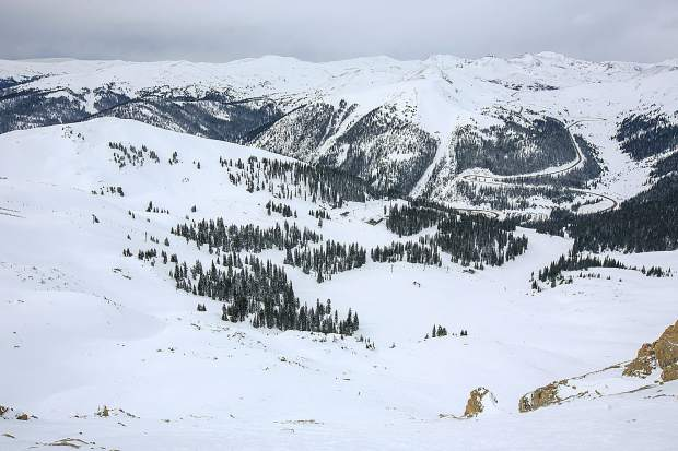 A view from earlier this winter season of Arapahoe Basin Ski Area.