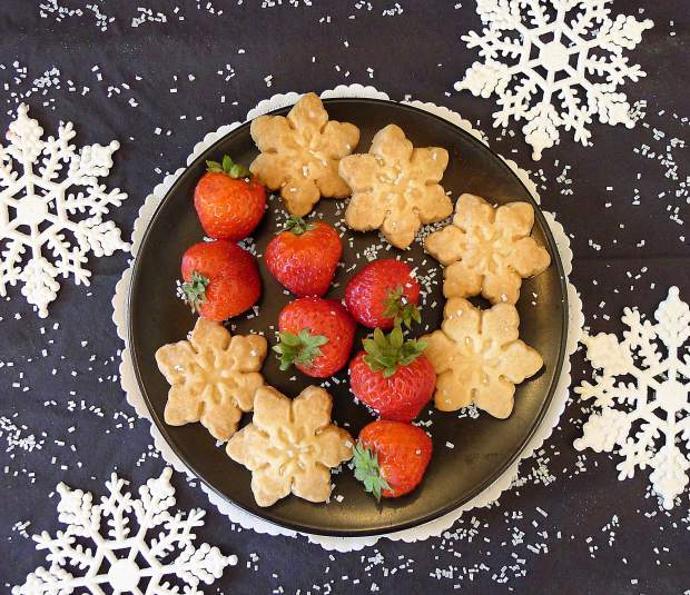 High Altitude Baking: Buttery shortbread snowflakes for winter
