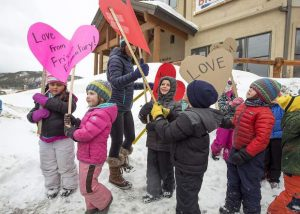 On Valentine's Day, Frisco Elementary students showered their community with love