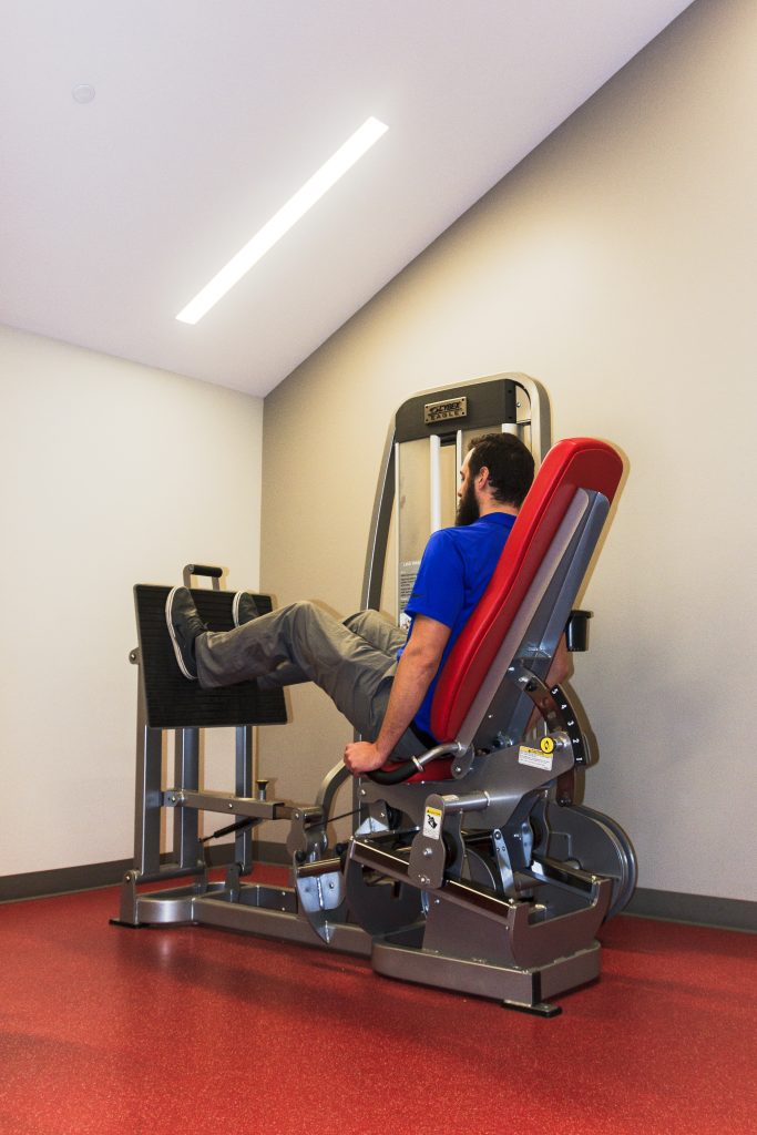 Much like with rehab therapy, physical therapists can help patients determine a preventative therapy program that's specific to the activities or sports for which the patient participates. Photos by Priscilla Balderas