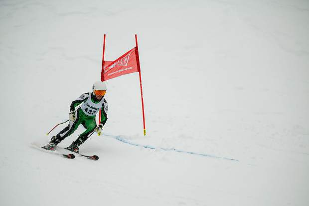 Summit High School senior Alpine skier Grace Karoly skis during Thursday's Colorado High School Ski League state-championship giant slalom competition at Purgatory Resort in Durango. Karoly finished in 21st place with a time of 43:40.