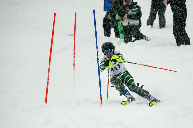 Summit High School sophomore Joey Hodge skis during Friday's slalom competition at the Colorado High School Ski League state championship at Purgatory Resort in Durango. Hodge's 12th-place finish was the tops for the Tigers in the contest.