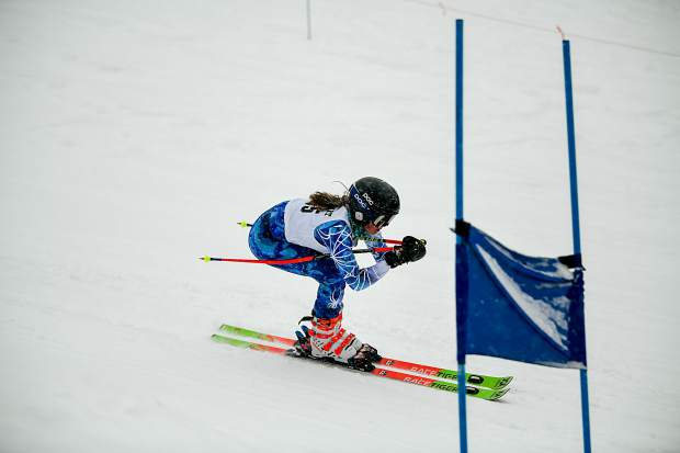 Summit High School freshman Paige Peterson skis during Thursday's Colorado High School Ski League state-championship giant slalom competition at Purgatory Resort in Durango.