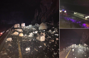 I-70 in Glenwood Canyon closed 'most of the day' due to overnight rockslide