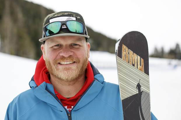 Chad Ohmer of Hartsel, a retired U.S, Marine Corps infantryman and a current aspiring Paralympian in downhill skiing, volunteered as part of the Keystone Adaptive Center's Semper Fi Fund adaptive military veterans program on Wednesday, Feb. 13, at Keystone Resort.
