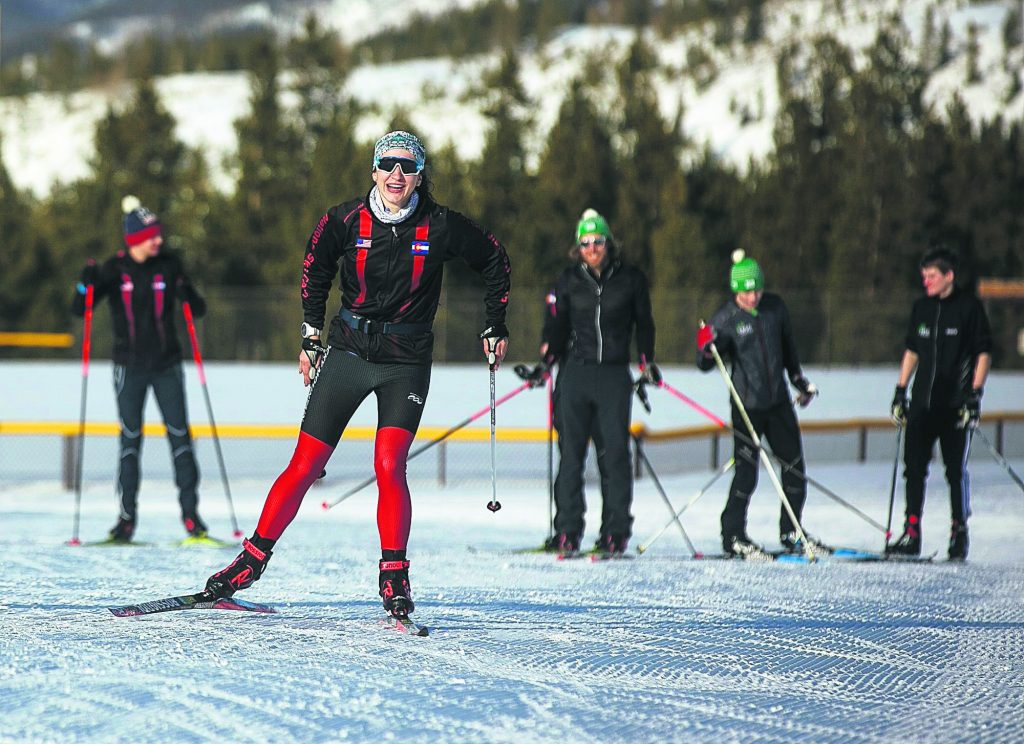 Summit Nordic team skate during practice Tuesday, Feb. 26, at the Frisco Nordic Center.