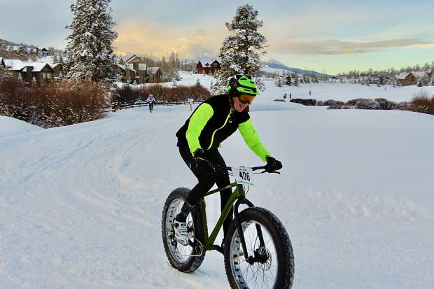 Joshua Ernst of Blue River pedals at the Gold Run Nordic Center in Breckenridge on Saturday during the fifth annual Ullr Bike Race. Ernst finished in second place in the amateur men 18-39 division with a time of 01:15:15.61