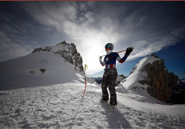 Lindsey Vonn prepares for an alpine ski women's World Cup downhill training event in Cortina D'Ampezzo, Italy earlier this season. The women's all-time leader in World Cup wins announced on Friday that she will retire from ski racing after this month's world championships in Sweden.