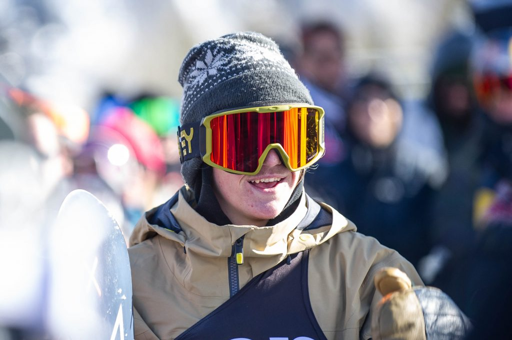 Red Gerard smiles after one of his runs during Saturday's X Games snowboard slopestyle competition at Buttermilk Mountain in Aspen.