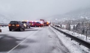 Vail firefighter suffers serious injuries trying to help during early morning crashes on I-70