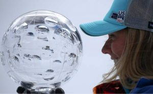 Shiffrin wins giant slalom race, seals World Cup title