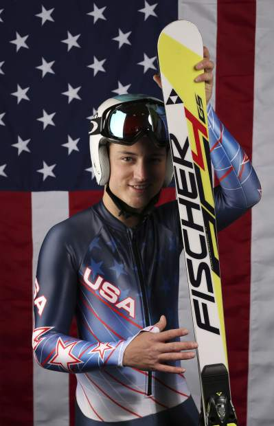 United States Olympic Winter Games Paralympic Alpine skier Thomas Walsh poses for a portrait at the 2017 Team USA Media Summit, in Park City, Utah. Ten years ago, ski racer Thomas Walsh was diagnosed with cancer that ended up taking parts of his pelvis. By his side that day was Olympic champion Mikaela Shiffrin. She remains one of his biggest fans as Walsh rises through the ranks as a Paralympian.