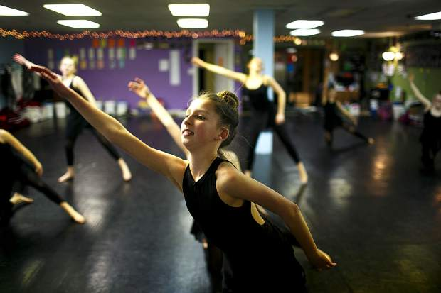 Dancers from Summit and Park counties rehearse inside the Alpine Dance Academy studio in Frisco on Wednesday, Feb. 20 for the Dancers Against Cancer event.