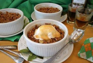 High Country Baking; Irish whiskey apple crisp is a perfect St. Patrick's Day dish
