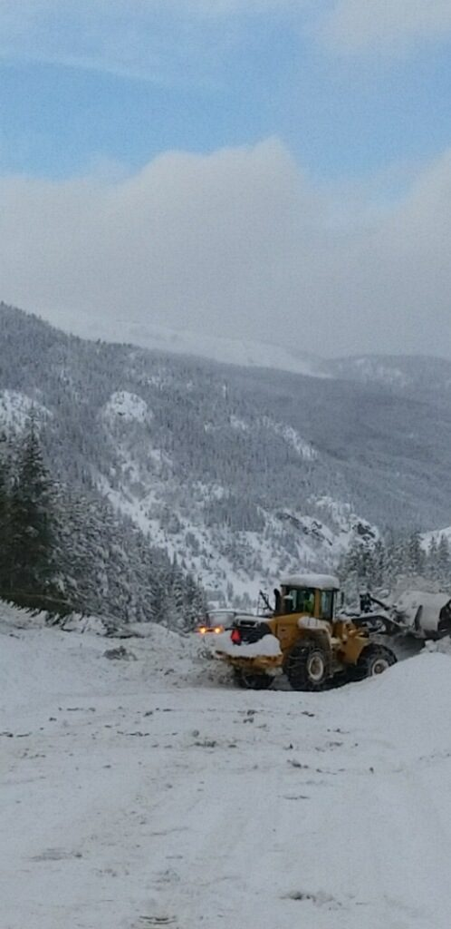 Cleanup efforts on CO 91 following a massive avalanche this afternoon.