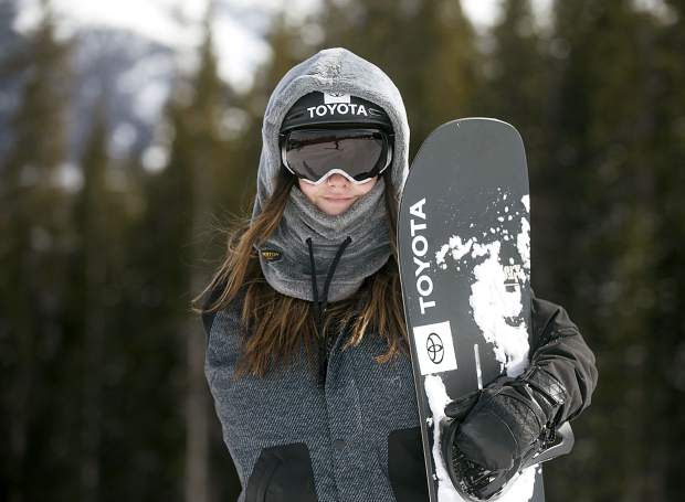 Kiana Clay, 24, of Dillon, who has a paralyzed right arm from a dirt bike accident, poses for a photo during training with the Adaptive Action Sports team on Thursday, Feb. 21, at Copper Mountain Resort. Clay will be the guest speaker at Thursday's Night of Goodness in Breckenridge.