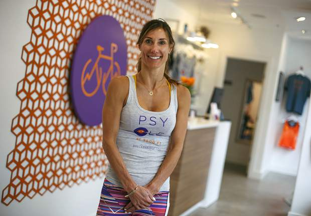 Psycle 9600 Spin Studio owner Melissa Dasakis inside the spinning studio Wednesday, March 6, at the Main Street Station in Breckenridge.