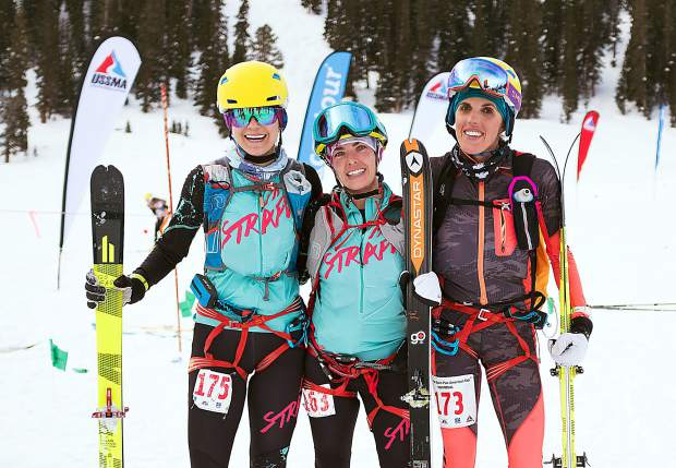 Summit County locals Nikki LaRochelle (left) and Sierra Anderson (right), seen here at December's world championships qualifying event at Arapahoe Basin Ski Area, are two of four local women who will represent the United States at this week's International Ski Mountaineering Federation World Championships in Switzerland.