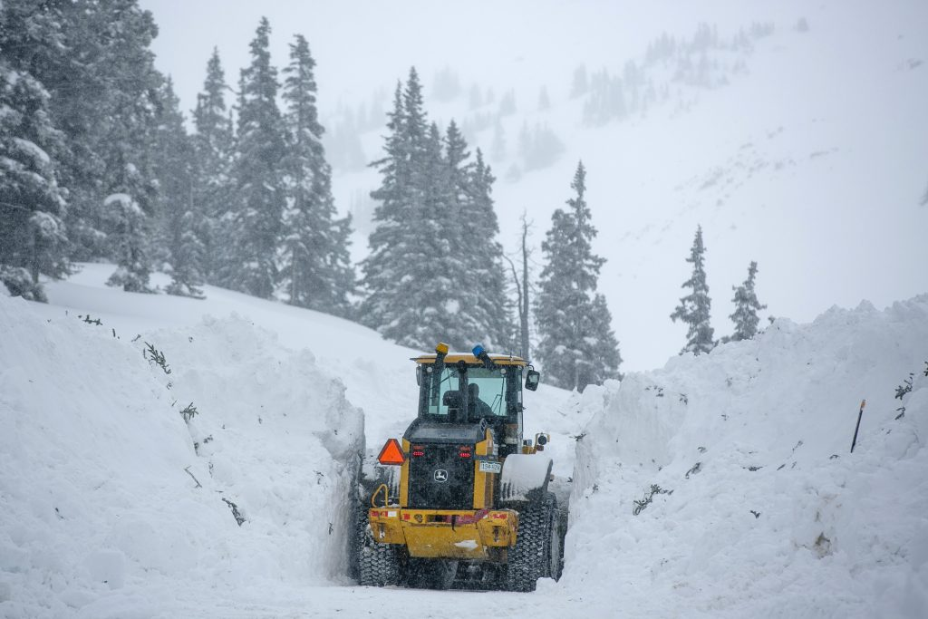 Interstate 70 during snowstorm Thursday, March 7, at Loveland Pass.