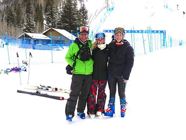 Rocky Mountain Ski Racing, a first year Summit County-based Alpine ski racing club, will be represented this month at the U.S. Alpine speed and tech national championships in Maine and New Hampshire. Making the trip will be three clum members pictured in this photo: Coach Crawford Pierce (right) and skiers Abigail Murer (center) and Camryn Glick.