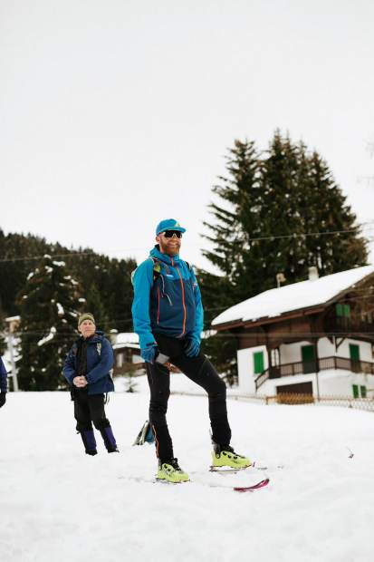Breckenridge local and Team USA ski mountaineering head coach Joe Howdyshell is seen earlier this month at the International Ski Mountaineering Federation World Championships in Switzerland.