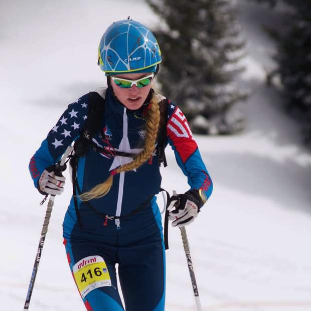 Grace Staberg of Summit County competes during this week's International Ski Mountaineering Federation World Championships in Villars sur-Ollon, Switzerland. Staberg's pair of sixth-place finishes in the cadet individual race and in the cadet vertical race have been the strongest thus far for Summit County's contingent at the highest-level international event for the sport.