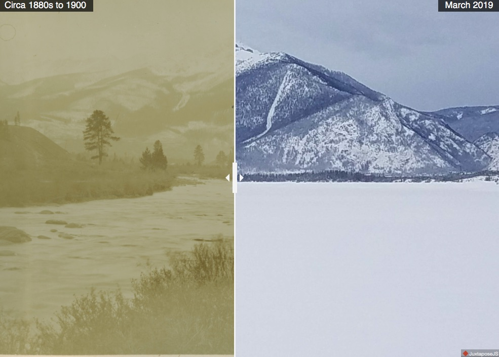 Historical photo shows avalanche path in same area as recent Peak 1 slide