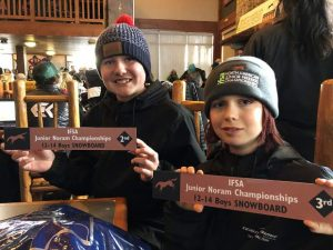 Team Summit youth big mountain snowboarders Wojtalik, Lemire podium at North American Championships