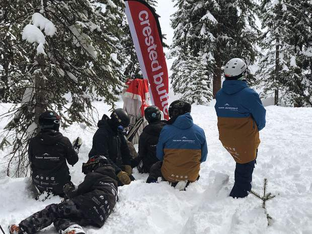 Team Summit's big mountain snowboarding team seen at a competition at Crested Butte Resort earlier this season.