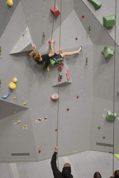 Alex Current of Eagle competes in the 2019 Sport & Speed Local at Eagle Climbing + Fitness in Eagle on Saturday. Current finished fifth in the Male Youth C division.